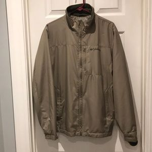 Columbia fleece lined water repellent jacket